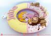 Guirlanda de Feltro Fada da Floresta (LuaArteira) Tags: lua arteira luaarteira feltro felt guirlanda porta maternidade enfeite menino presente chá bebê fraldas menina rosa amarela animais passarinhos boneca flores