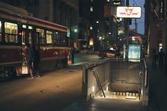 2017-07-15 (SantorinTr) Tags: toronto urban streetcar night subway life