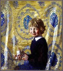 N C Wyeth, Andy with Fire Engine, 1922 (geldenkirchen) Tags: ncwyeth painting 1922