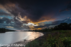 Storm Brewing 4-Explored (George O Mahony) Tags: sunset river suir sky water leefilters explore explored