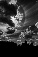 Solar Halo above Castle Howard (pvizdal_photo) Tags: clouds solarhalo halo castlehoward