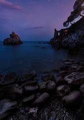 When the night comes (Toni_pb) Tags: nature nikkor1424f28 nikon nightscape night lowlight light landscape longexposure d810 dawn frares rocks water waterscape warm wild clouds colors cloudy cielo contrast coast catalonia cala cataluña costa contraste minimalist mystic mistico vanishingpoint