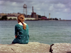 (toulouse goose) Tags: film kodak portra 160 mamiya 645 e 120 sekor 150mm35 mediumformat c41 epson v500 stclairriver sarnia porthuron watertower lighthouse