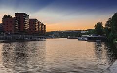 New apartment blocks next to Vltava (rlubej) Tags: czechrepublic rivers colors boatsships