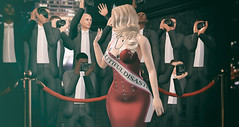 Miss Beautiful Disaster (desiredarkrose) Tags: miss disaster theepiphany deaddollz blonde crown paparazzo red gown blog fashion virtualfashion virtualworld virtualphotography realevil supernatural doux