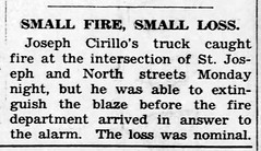 1951 - Joe Cirillo truck fire - Enquirer - 21 Jun 1951