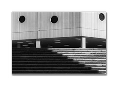 lines & stripes (Karl-Heinz Bitter) Tags: groningen stadion lines stufen stairs lights shades shadow treppen football architektur architecture monochrom monochrome karlheinzbitter blackwhite blackandwhite bw schwarzweiss niederlande holland nederland
