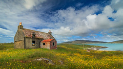Eriskay Croft (Adam West Photography) Tags: adamwest eriskay hebrides scotland barra uist uk croft house abandoned wildflowers meadow buttercups sky clouds summer travel turquoise sea sand beach