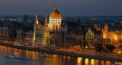 Budapest (polfotos) Tags: budapest nightshot hungary ungarn parlament architektur pentaxart pentax sm smc lights river fluss quantumentanglement