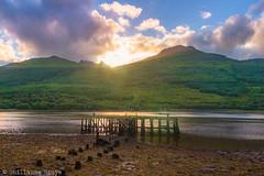 J13 - Loch Long Sunset (Darth Jipsu) Tags: loch lochlong scotland sunset highlands argyll water nationalpark naturalpark lochlomond trossachs arrochar pier mountain royaumeuni gb