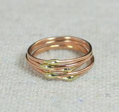 **Free Domestic Ship (alaridesign) Tags: free domestic shipping for all orders over 50 use coupon code shipfree50 thin rose yellow gold dew drop stacking ring these rings 2050 each choose t alari