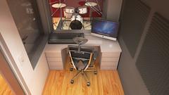 Estudio Grabación Cámara 4 Final (eestudio_nqn) Tags: música instrumentos estudio sonido vray 3dsmax bateria guitarra teclado consola photoshop diseño