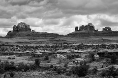 Utah - Wooden Shoe Arch B&W (JimP (in Sarnia)) Tags: bw utah park national canyonlands needles arch shoe wooden