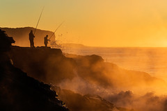 Big Saturday (Rod Burgess) Tags: southdurras nsw australia waves rocks fishing canoneos5dmarkiv canon100400f4556lisii pointupright mist fog sunrise dawn