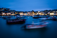 St Ives, after the sun (*Hairbear) Tags: longexposure blue coast sea stives water moving slow holiday boats cornwall harbour seaside