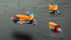 ScooBEE Speeder (Joe Gan) Tags: scooter bike fu futuristic scoobee toy lego brick hover separator