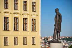Mala Strada walk (jmarnaud) Tags: czech 2017 summer walk mala strana city old building castle statue