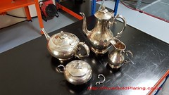 Badly Tarnished Tea and Coffee Set (PureGoldPlating) Tags: