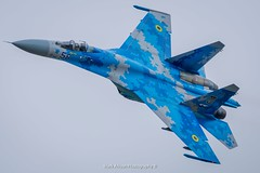 Ukrainian Sukhoi Su-27 Flanker at RIAT (Mark_Aviation) Tags: ukrainian sukhoi su27 flanker riat su27p blue 58 digital camo camouflage royal international air tattoo 2017 fairford ffd egva fast fighter military jet loud afterburner aircraft airplane airport aviation airlines aerospace aeroplane airbus arriving airshow arrival af plane displaying display united states 70th anniversary ukraine