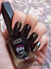 Esmalte Frankie, da Monster High (Biotropic). (A Garota Esmaltada) Tags: agarotaesmaltada unhas esmaltes nails nailpolish manicure preto black frankie monsterhigh biotropic