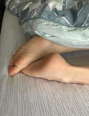Sleeping (Ped-antics) Tags: feet female foot femalefeet footfetish toes heels ankles arches amateur sexy soles sexyfemalefeettoessandalstoesbarelegsanklesheelshighheelsmulesslidessoles