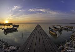 Sarichioi (Konstantinous03) Tags: romania sarichioi sunrise boats pontoon sky