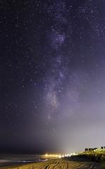 Milky Way Over Garden City Pier (kirby.minosky) Tags: green milky way stars astro beach sand water waves pier