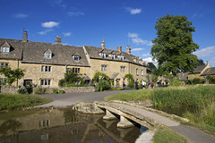 Lower Slaughter (Roger.C) Tags: lowerslaughter cotswolds thecotswolds gloucestershire beauty beautiful water bridge stunning sunny bluesky pretty daysout tourism houses stone stream nikon d610 tamron 2470