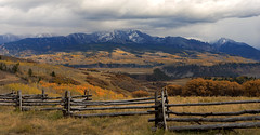 All we have to decide is what to do with the time that is given us… (ferpectshotz) Tags: colorado fence rustic mountains sanjuanmountains fallfoliage fallcolors autumn color rockymountains lastdollarroad