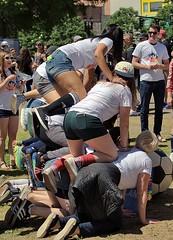 Girl Pyramid (swong95765) Tags: ladies females women pyramid stacking climb fun team