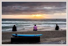 Côte des Basques / Basques coast - Biarritz (christian_lemale) Tags: biarritz plage beach côte coast ciel sky personnes people surf basques france nikon d7100 côtedesbasques coucher soleil sunset