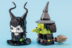 tkm-Witches-Maleficent-WickedWitchOfTheWest-3 (tankm) Tags: moc lego brickheadz witches maleficent wizrdofoz wickedwithofthewest