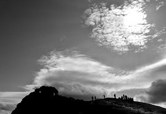 Getting set up for 'The Shot'.. (Imagine8 Photography) Tags: scotland scottish location benarthur southernhighlands silhouette bw monochrome photographers hike danbell