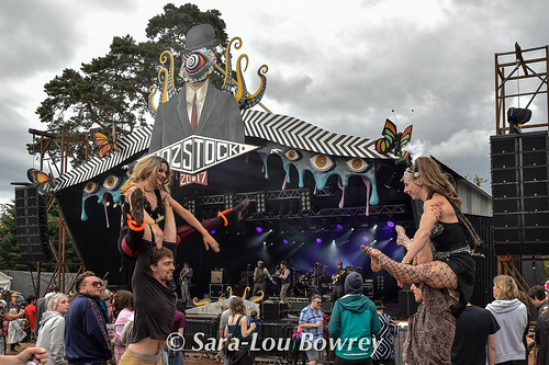 crowds for The Baghdaddies at Nozstock 2017