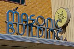 Masonic Building, Hays, KS (Robby Virus) Tags: hays kansas ks masonic lodge building sign signage streamline moderne fraternal organization freemasons masons temple