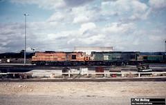 1857 X1028 XB1020 Forrestfield Loco Depot 11 April 1981 (RailWA) Tags: railwa philmelling westrail x1028 xb1020 forrestfield loco depot