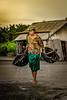 Traditional salt farmer in Kusamba (tehhanlin) Tags: indonesia bali kusamba sony a850 sonya850 sal70200g salt humaninterest portrait photography sunset sunrise denpasar ngc sonysg sonysingapore nusantara