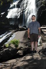 Adam Provo - Waterfall (. o 0 Sam 0 o .) Tags: d300s 35mmf18gafsdx sb28 nikon strobist flash pocketwizard pocketwizards flextt5 minitt1 nature hike washingtonstate forrest trees waterfall water circularpolarizer unedited dof shallowdeptoffield depthoffield