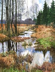 Autumn landscape (mihail.zapasnyh) Tags: russia romantic realism art paintings watercolor autumn
