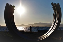Parabola (SqueakyMarmot) Tags: vancouver westend englishbay sunsetbeachpark sculpture sunset silhouette