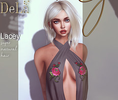 """=DeLa*= new hair """"Lacey"""" (=DeLa*=) Tags: dela hair rigged fitted mesh materials secondlife secondlifefashion sl slhair style new shiny shabby"""