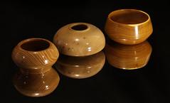 Three small bowls (Stephen Mildenhall) Tags: woodturning bowl wood lathe woodbowl woodwork