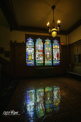 Daydreaming (wilbias) Tags: ontario canada travel window light architecture glass vertical hamilton indoors stained