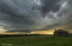 Another Storm (Len Langevin) Tags: alberta canada storm thunderstorm tornadowarned clouds supercell extremeweather weather stormseason abandoned old house weatheredwood nikon d7100 tokina 1116