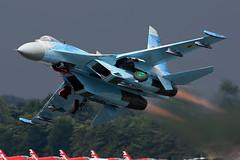 Su-27P Flanker (Dean West) Tags: riat fairford royalinternationalairtattoo airtattoo airshow usaf su27 flanker ukrainianairforce ukraine su27p