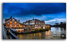 An evening in Windsor! (FotographyKS!) Tags: côtébrasserie brasserie cote french frenchstyle restaurant classic traditional dusk sunset sunrise evening clouds cloudscape reflection water bridge bytheriver riverthames thames windsor london aneveninginlondon england uk britain british unitedkingdom architecture nature traveller travelbug traveladdict photography streetphotography royal finedining frenchcuisine traditions france kreative