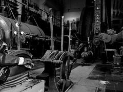 Zeche Consolidation (Arnolt S.) Tags: lumixgf7 leicasummilux1517 monochrome bw schwarzweiss blackandwhite zecheconsolidation gelsenkirchen industriekultur industrialculture ruhrgebiet fördermaschine zechen mines colliery bergbau mft microfourthirds