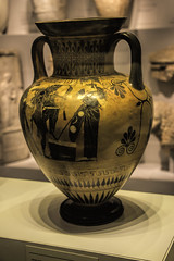 Black-figure Attic neck amphora (the last don) Tags: vase amphora museum objects israel