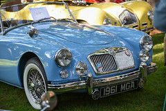 1961 MGA (faasdant) Tags: 45th annual forest grove concours delegance 2017 pacific university campus classic car automobile show exhibition 1961 mga light blue roadster