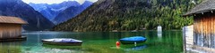 View over Plansee - Tyrol, Austria (dejott1708) Tags: plansee tyrol austria österreich tirol landscape panorama boats water mountains